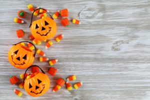 orange pumpkins assorted candy