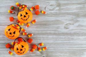 orange pumpkins assorted candy